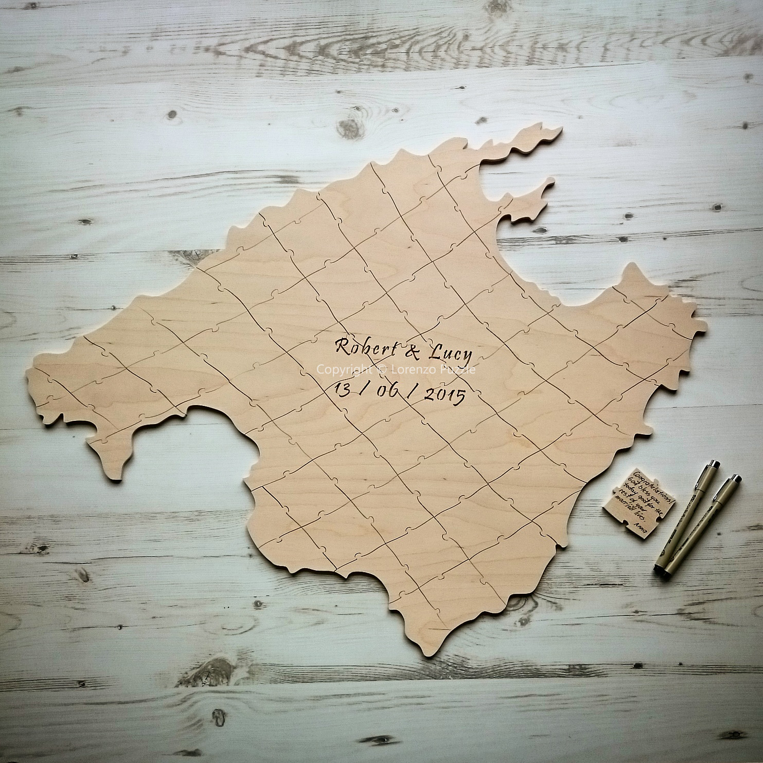 Map wedding guest book lorenzo puzzle img20150315131351 gumiabroncs Image collections