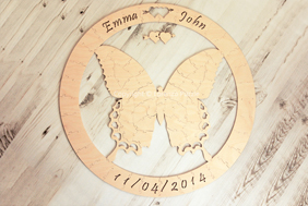 Butterfly Wedding Guest Book Puzzle by Lorenzo Puzzle