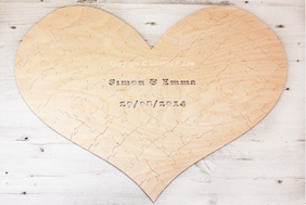 Heart Wedding Guest Book Puzzle by Lorenzo Puzzle