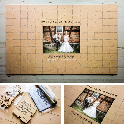 Outdoor Wedding Puzzle Guest Book Wall Woodworks Company Guest Book ...